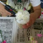 造花を固定